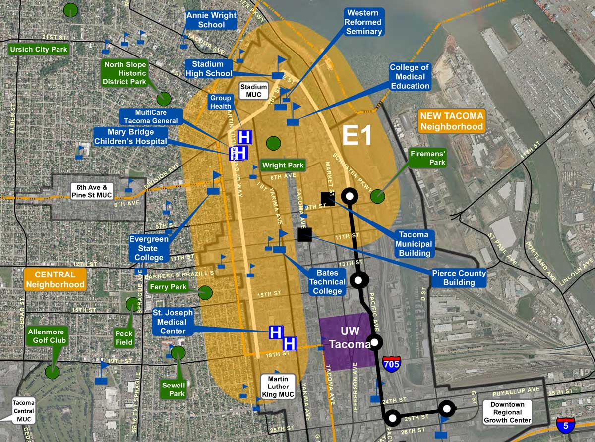 Exit133 Sound Transit Approves Further Study of E1 Tacoma Link